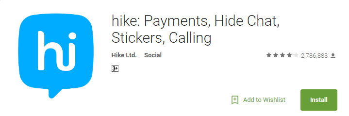 Hike - Payment & Mobile Chat