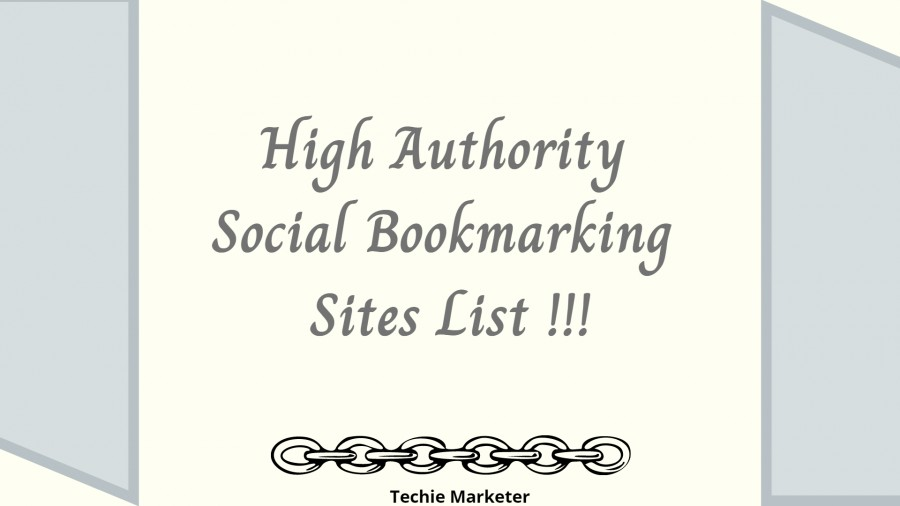 Top High DA PA Social Bookmarking Sites - Get Quality Bookmarks