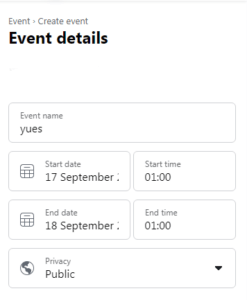 facebook event submission